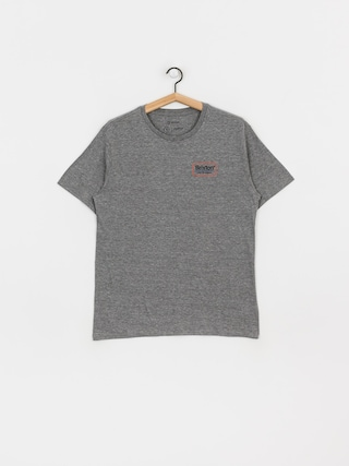 Tričko Brixton Palmer Prem (heather grey/orange)