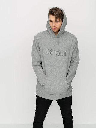 Mikina s kapucňou Brixton Gate II HD (heather grey)