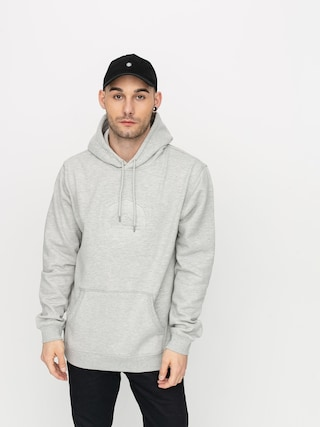 Mikina s kapucňou Quiksilver Rio Emboss HD (light grey heather)