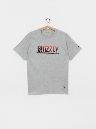 Tričko Grizzly Griptape X Champion Stamp Fadeaway (grey heather)