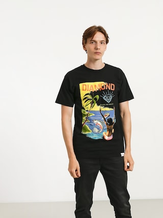Tričko Diamond Supply Co. Fishing For Compliments (black)
