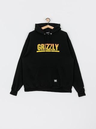 Mikina s kapucňou Grizzly Griptape X Champion Stamp Fadeaway HD (black)