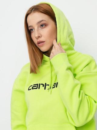 Mikina s kapucu0148ou Carhartt WIP Carhartt HD Wmn (lime/black)