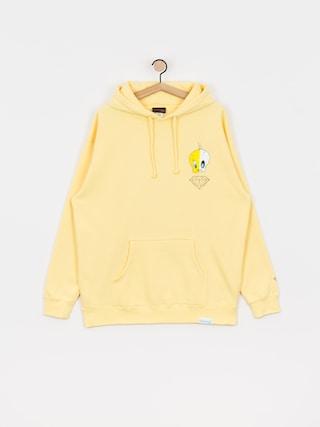 Mikina s kapucu0148ou Diamond Supply Co. X Ray HD (yellow)