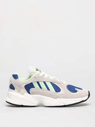Topu00e1nky adidas Originals Yung 1 (ftwr white/glow green/collegiate royal)
