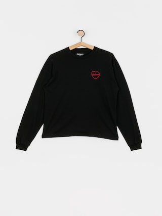 Triko Carhartt WIP Eve Heart Wmn (black/etna red)