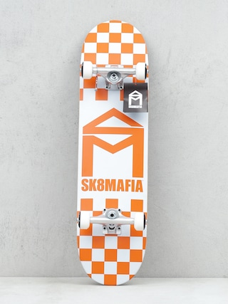 Skateboard Sk8Mafia House Logo (checker orange)