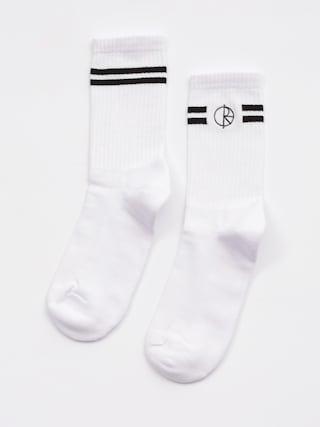 Ponožky Polar Skate Stroke Logo (white black)