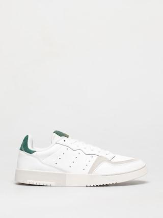 Topu00e1nky adidas Originals Supercourt (white/white/collegiate green)