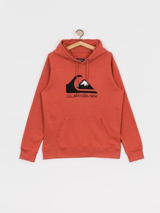 Mikina s kapucňou Quiksilver Comp Logo Screen HD (redwood)