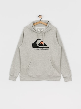 Mikina s kapucu0148ou Quiksilver Comp Logo Screen HD (athletic heather)