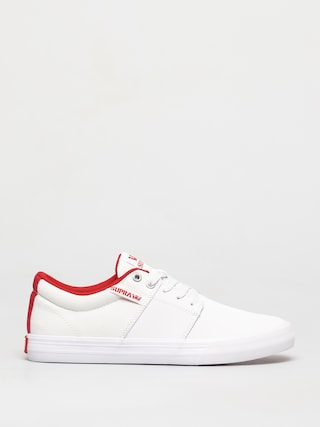 Topu00e1nky Supra Stacks Vulc II (white/red white)