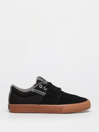 Topánky Supra Stacks Vulc II (black/grey gum)