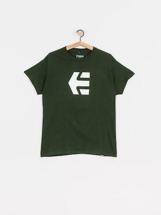 Tričko Etnies Icon (dark green)