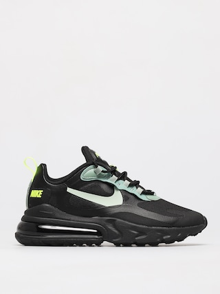 Topu00e1nky Nike Air Max 270 React (black/pistachio frost silver pine volt)