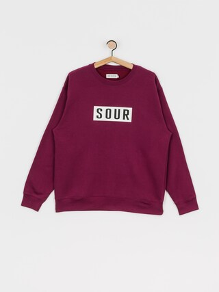 Mikina Sour Solution Sour Patch Crew (burgundy)