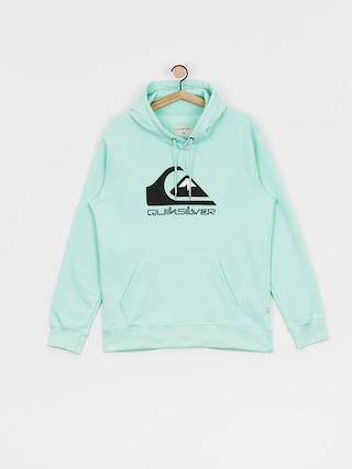 Mikina s kapucu0148ou Quiksilver Comp Logo Screen HD (beach glass)