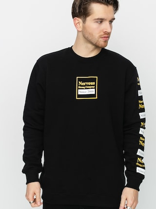 Mikina Nervous Repeat (black)