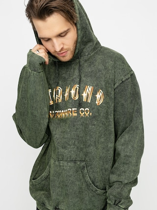 Mikina s kapucňou Diamond Supply Co. Gold Skull HD (green)