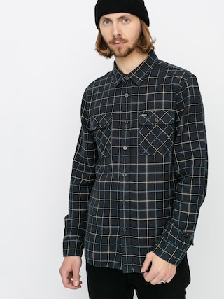 Kou0161eu013ea Brixton Bowery Flannel Ls (washed black/blue)