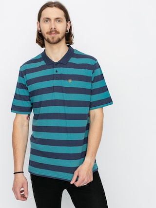 Polo tričko Brixton Hilt II Knit (aqua/washed navy)