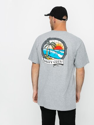 Tričko Salty Crew Portside (athletic heather)