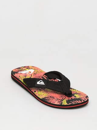 Plu00e1u017eovky Quiksilver Molokai Layback (black/red/yellow)