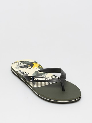 Plu00e1u017eovky Quiksilver Molokai Jungle Swell (black/white/black)