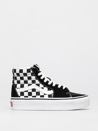 Topu00e1nky Vans Sk8 Hi Platform 2 (checkerboard/true white)