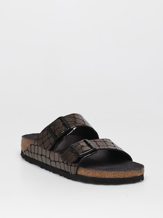 Sandale Birkenstock Arizona Wmn (gator gleam black)