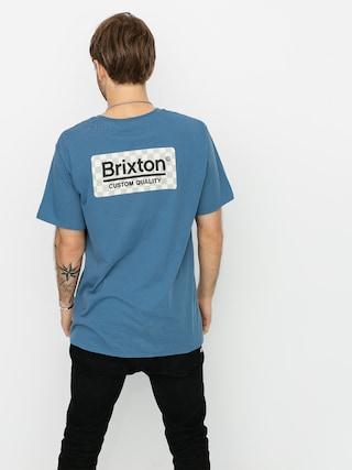 Tričko Brixton Palmer Prem (slate blue)
