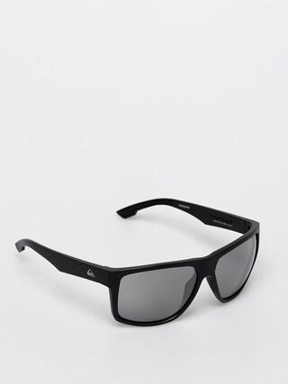 Slneu010dnu00e9 okuliare Quiksilver Transmission (matte black/flash si)