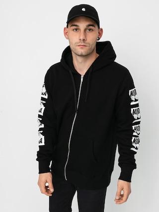Mikina s kapucňou Koka Zipper Cut ZHD (black)