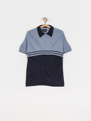 Polo triu010dko Brixton Allen 1/4 Zip (twilight blue/washed navy)