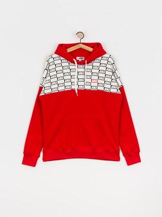 Mikina s kapucňou Koka Checkmate HD (red)