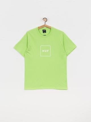 Tričko HUF Essentials Box Logo (green)