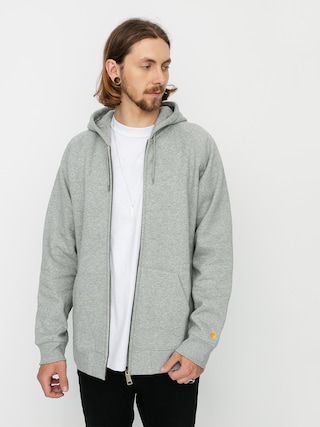 Mikina s kapucu0148ou Carhartt WIP Chase ZHD (grey heather/gold)