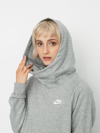Mikina s kapucu0148ou Nike Sportswear Essential HD Wmn (grey heather/white)