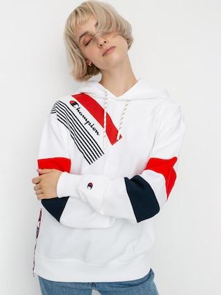 Mikina s kapucu0148ou Champion Sweatshirt HD 112758 Wmn (wht)