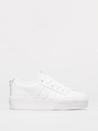 Topu00e1nky adidas Originals Nizza Platform Wmn (ftwwht/ftwwht/cblack)