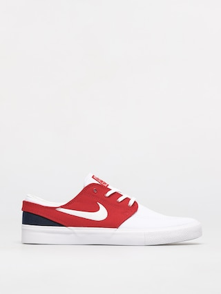 Topu00e1nky Nike SB Zoom Janoski Canvas Rm (white/white university red midnight navy)