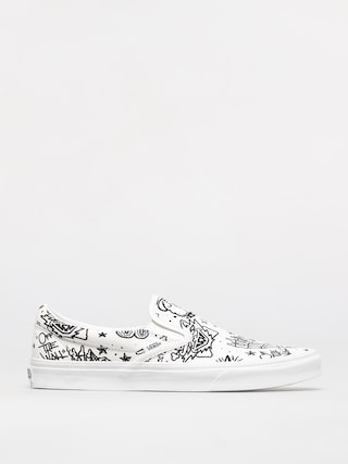 Topu00e1nky Vans Classic Slip On (u color tattoo/true white)