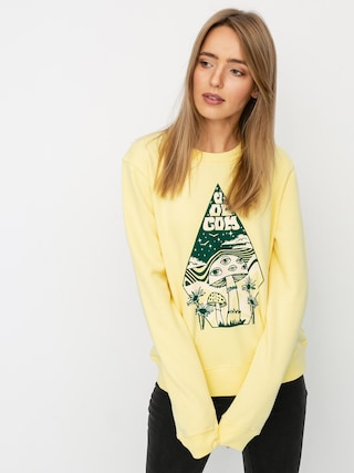 Mikina s kapucu0148ou Volcom Sound Check HD Wmn (faded yellow)