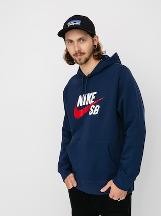 Mikina s kapucu0148ou Nike SB Sb Icon HD (midnight navy/university red)