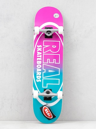 Skateboard Real Outliners (pink/teal)