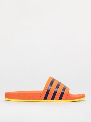 u0160u013eapky adidas Originals Adilette (trace orange/hi-res orange/dark blue)