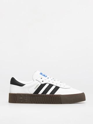 Topu00e1nky adidas Originals Sambarose Wmn (ftwwht/cblack/gum5)