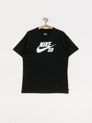 Tričko Nike SB Logo (black/white)