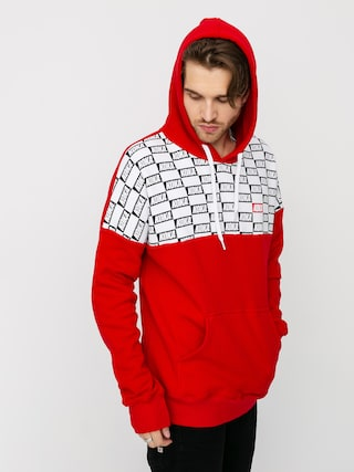 Mikina s kapucu0148ou Koka Checkmate HD (red)