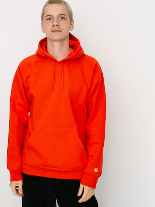 Mikina s kapucňou Carhartt WIP Chase HD (safety orange/gold)
